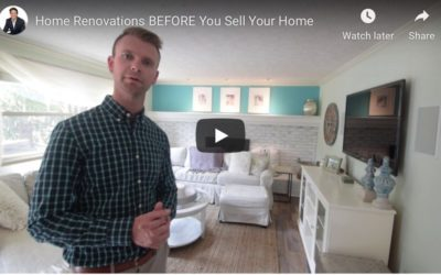 Home Renovations Before You Sell Your Home